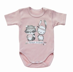 "Body LAFEL ""forest friends"" 29557 brudny róż"